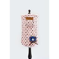 お買い得  -犬 パーカー 犬用ウェア 高通気性 ハート 蝶結び ピンク コスチューム ペット用