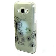 Назначение Кейс для  Samsung Galaxy Чехлы панели С узором Задняя крышка Кейс для одуванчик Термопластик для SSamsung Galaxy J7 J5 J1