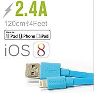 お買い得  iPhone 用ケーブル/アダプター-ライト コード / 充電ケーブル / 充電器用コード フラット ケーブル iPad / Apple / iPhone のために 120 cm 用途 ポリカーボネート / プラスチック