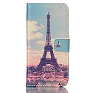 Για Samsung Galaxy Θήκη Θήκη καρτών / Πορτοφόλι / με βάση στήριξης / Ανοιγόμενη tok Πλήρης κάλυψη tok Πύργος του Άιφελ Συνθετικό δέρμα