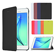 のために Samsung Galaxy ケース スタンド付き / フリップ / 折りたたみ式 ケース フルボディー ケース ソリッドカラー PUレザー Samsung Tab A 9.7 / Tab A 8.0