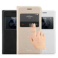Для Кейс для Huawei со стендом / с окошком / С функцией автовывода из режима сна / Флип Кейс для Чехол Кейс для Один цвет Твердый