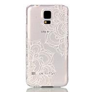 abordables Galaxy S5 Carcasas / Fundas-Para Funda Samsung Galaxy Transparente Funda Cubierta Trasera Funda Mandala Policarbonato Samsung S5
