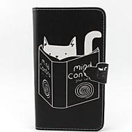 Для Samsung Galaxy Note Кошелек / Бумажник для карт / со стендом / Флип Кейс для Чехол Кейс для Кот Искусственная кожа Samsung Note 3