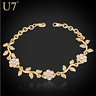 cheap Floral Jewelry-Women's Synthetic Diamond Bracelet - Rhinestone, Imitation Diamond Flower Charm, Vintage, Party Bracelet Gold / Silver For Daily