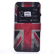 tanie Etui / Pokrowce do Samsunga Galaxy Note-Kılıf Na Samsung Galaxy Samsung Galaxy Note Etui na karty Z podpórką Z okienkiem Flip Wzór Pełne etui Flaga Miękkie Skóra PU na Note 5