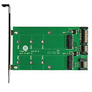 お買い得  -maiwoのUSB3.0 2X SATA to2x M.2(ngff)カードインタフェースカードkt005a