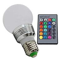 E26/E27 Żarówki LED kulki 1 Diody lED High Power LED Przysłonięcia Zdalnie sterowana RGB 100-130lm 2700-6500K AC 85-265V