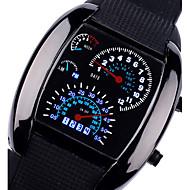 Муж. Спортивные часы Наручные часы Кварцевый Спортивные часы LED силиконовый Группа Черный Коричневый