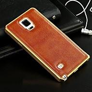 Для Кейс для  Samsung Galaxy Покрытие Кейс для Задняя крышка Кейс для Один цвет Натуральная кожа Samsung A7 / A5 / A3