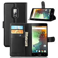 お買い得  携帯電話ケース-ケース 用途 OnePlus / ワンプラス3 / One Plus OnePlusケース ウォレット / カードホルダー / スタンド付き フルボディーケース ソリッド ハード PUレザー のために One Plus 3T / One Plus 3 / One Plus 2