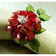 12 adet / set 1.77 inç akrilik çiçek peçete yüzüğü sofra takımı masa depolama