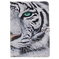 Χαμηλού Κόστους Θήκες/Καλύμματα για iPad-άσπρο μοτίβο τίγρης PU δερμάτινη θήκη γεμάτο σώμα με βάση και υποδοχή κάρτας για το ipad αέρα 2