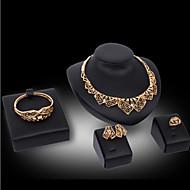 キュート パーティー バングル キュービックジルコニア ゴールドメッキ 合金 ブレスレット ネックレス イヤリング・ピアス 指輪