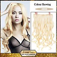 お買い得  -5クリップは、利用可能な女性のより多くの色のための毛延長での漂白ブロンド(#613)人工毛クリップを波状