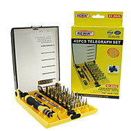 abordables Herramientas de Reparación y Piezas de Repuesto-conjunto de herramientas destornillador eléctrico 45pcs rewin® profesional