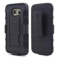 tanie Galaxy S4 Etui / Pokrowce-Na Samsung Galaxy Etui Odporne na wstrząsy / Z podpórką Kılıf Etui na tył Kılıf Zbroja PC Samsung S6 edge / S6 / S5 / S4 / S3