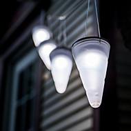 preiswerte LED Solarleuchten-Solar weißen Garten im Freien hängenden Baum Kornett Kegel LED-Leuchten