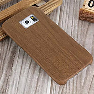 Wood Slim Soft Leather Phone Case for Samsung Galaxy S6/S6 edge