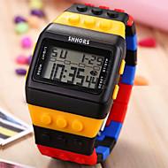 Недорогие Мужские часы-Муж. электронные часы Часы Дерево Наручные часы Цифровой Будильник Календарь Секундомер Спортивные часы ЖК экран Plastic Группа Кулоны