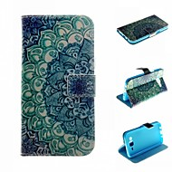 お買い得  Samsung 用 ケース/カバー-ケース 用途 Samsung Galaxy Samsung Galaxy ケース カードホルダー ウォレット スタンド付き フリップ フルボディーケース 曼荼羅 PUレザー のために J5 J1