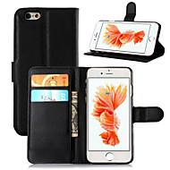 Недорогие Кейсы для iPhone-Кейс для Назначение Apple iPhone 8 iPhone 8 Plus iPhone 6 iPhone 6 Plus Бумажник для карт Кошелек со стендом Флип Чехол Сплошной цвет