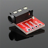赤 - mp3プレーヤー用/マイクワットの3.5mmオーディオソケットステレオサウンドモジュール