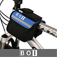 お買い得  -BOI 1.9 L 自転車用フロントバッグ 防水, 耐久性, 耐衝撃性の 自転車用バッグ 布 / 600Dリップストップ 自転車用バッグ サイクリングバッグ 他の同様のサイズの携帯電話 サイクリング / バイク / 防水ファスナー