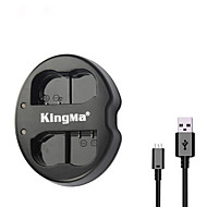 kingma®ニコンD750のd7100 D7000のD610 D600のD800Eカメラ用ニコンEN-EL15バッテリー用のデュアルスロットのUSB充電器