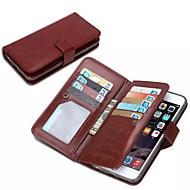 iphone 6S 6プラス9カードスロットを持つためのiphone 7プラス・デ・jiと財布PUレザーケース