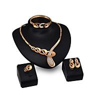 Χαμηλού Κόστους -Κοσμήματα Σετ Cubic Zirconia, 18Κ Χρυσό Μοντέρνο, Βίντατζ, Πάρτι, Γραφείο, Καθημερινό, Κούμπωμα / Αλυσίδα Περιλαμβάνω Χρυσό Για Πάρτι / Cercei / Κολιέ