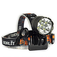 3 Headlamps Bike Lights Headlight LED 7000 lm 3 Mode Cree XM-L T6 Impact Resistant Rechargeable Waterproof Strike Bezel Tactical Emergency