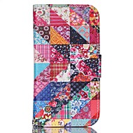 Недорогие Чехлы и кейсы для Galaxy S6 Edge Plus-Кейс для Назначение SSamsung Galaxy Кейс для  Samsung Galaxy со стендом Чехол Геометрический рисунок Кожа PU для S6 edge plus S6 S5 Mini
