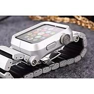 お買い得  クリアランスセール-時計バンド のために Apple Watch Series 3 / 2 / 1 Apple バタフライバックル 合金 リストストラップ