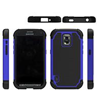 olcso Galaxy S5 Mini tokok-Case Kompatibilitás Samsung Galaxy Samsung Galaxy tok Ütésálló Fekete tok Mértani formák PC mert S5 Mini S5 Active S4 Mini S3 Mini