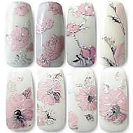abordables -4 pcs Autocollants 3D pour ongles Bijoux pour ongles Manucure Manucure pédicure Fleur / Mode Quotidien / PVC / Bijoux à ongles