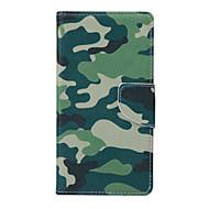 Назначение Кейс для  Samsung Galaxy Чехлы панели Бумажник для карт Кошелек со стендом Флип Чехол Кейс для Камуфляж Искусственная кожа для