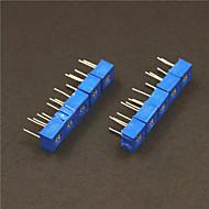 10Kohm Potentiometer Adjustable Resistors Set - Blue (10 PCS)