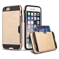 Недорогие Кейсы для iPhone 8-Кейс для Назначение Apple iPhone 8 iPhone 8 Plus iPhone 6 iPhone 6 Plus Бумажник для карт Защита от удара Кейс на заднюю панель броня