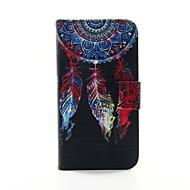 For Samsung Galaxy etui Pung / Kortholder / Med stativ / Flip Etui Heldækkende Etui Drømmefanger Kunstlæder SamsungS6 edge plus / S6 edge