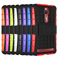 お買い得  携帯電話ケース-ケース 用途 Asus Asusケース 耐衝撃 スタンド付き バックカバー 鎧 ハード PC のために