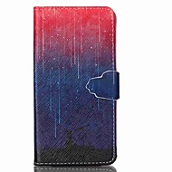 Для Кейс для  Samsung Galaxy Бумажник для карт / Кошелек / со стендом / Флип Кейс для Чехол Кейс для Градиент цвета Искусственная кожа