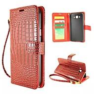 Na Samsung Galaxy Etui Etui na karty / Portfel / Z podpórką / Flip Kılıf Futerał Kılıf Geometryczny wzór Skóra PU Samsung J7