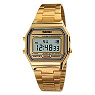 Недорогие Фирменные часы-SKMEI Муж. Спортивные часы Наручные часы электронные часы Цифровой 30 m Защита от влаги Будильник Календарь Нержавеющая сталь Группа Цифровой Серебристый металл / Золотистый / Розовое золото -