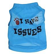お買い得  -ネコ 犬 Tシャツ 犬用ウェア 花/植物 ローズ ブルー ピンク テリレン コスチューム ペット用 男性用 女性用 ファッション