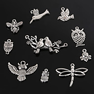 Beadia Antique Silver Metal Charm Pendants Dragonfly Butterfly Bee Bird &Owl DIY Jewelry Pendant