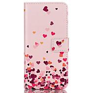 Недорогие Чехлы и кейсы для Galaxy S7-Кейс для Назначение SSamsung Galaxy Кейс для  Samsung Galaxy Бумажник для карт Кошелек со стендом Флип Чехол С сердцем Кожа PU для S8
