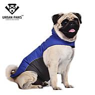 Kissa Koira Takit Liivi Koiran vaatteet Vedenkestävä Color Block Tumman sininen Punainen Sininen Asu Lemmikit