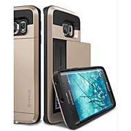 のために Samsung Galaxy ケース 耐衝撃 ケース バックカバー ケース ソリッドカラー PC Samsung S6 edge / S6