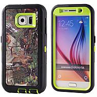 tanie Galaxy S4 Etui / Pokrowce-PC + TPU wodoodporne torebki gałęzi kamuflaż wstrząsoodporny przypadku kompilacji w folia na wyświetlacz do Samsung Galaxy S6 / S5 / S4 /